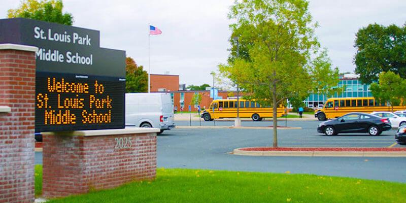 Sign of St. Louis Park Middle School