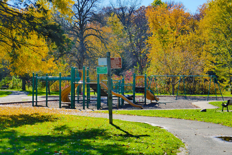 Playground in Arden Park in Edina, Minnesota