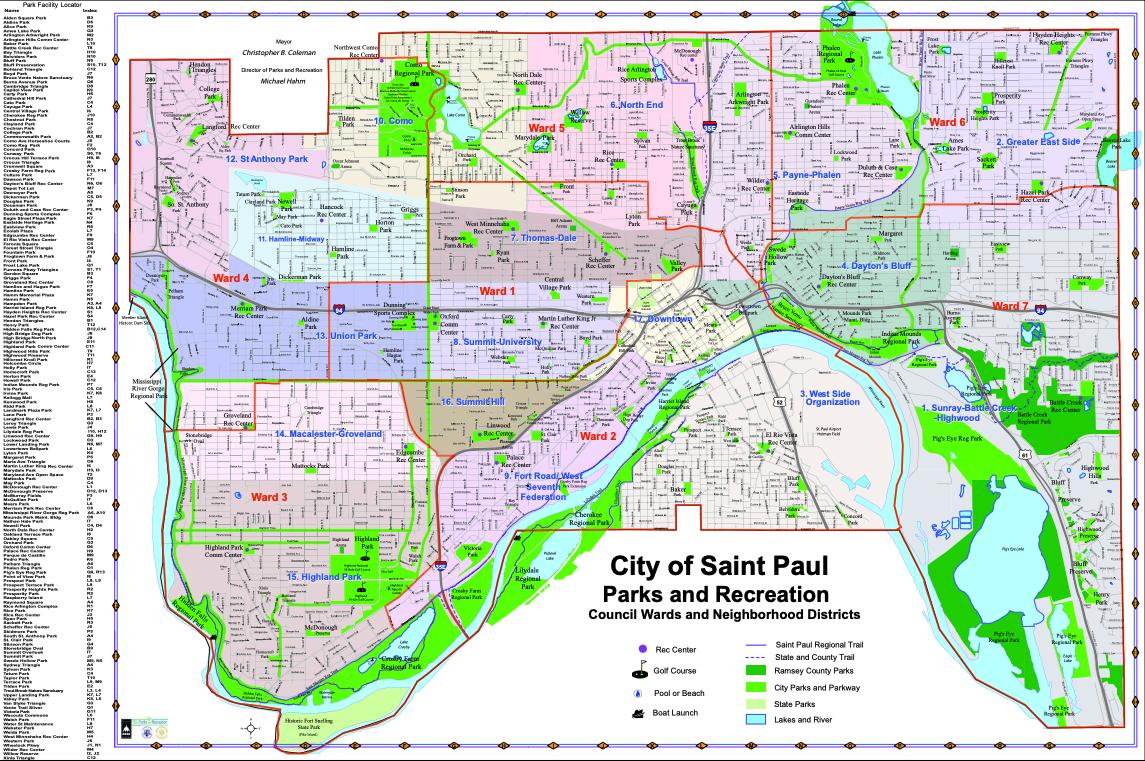 St. Paul Map of Parks