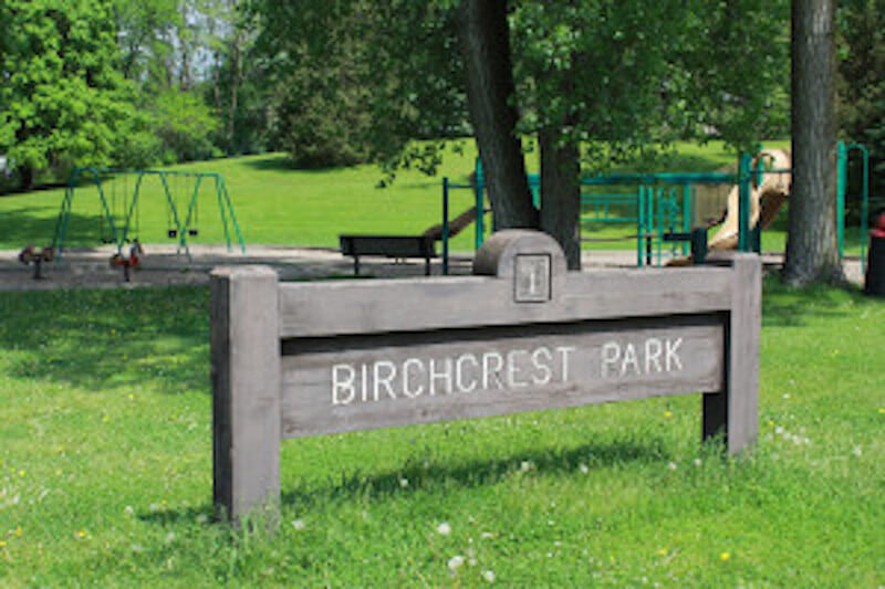 Sign of Birchcrest Neighborhood in Edina, Minnesota