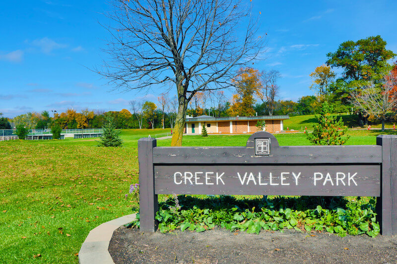 Creek Valley Park in Edina, Minnesota