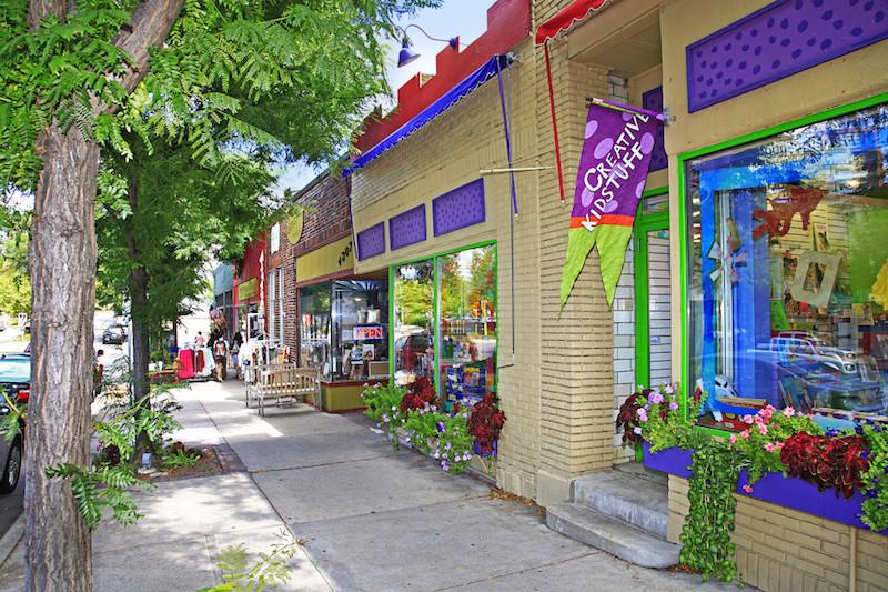 Shops in Linden Hills Neighborhood in Edina, Minnesota
