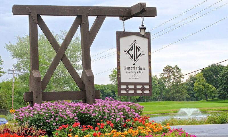 Interlachen Country Club sign in Edina, Minnesota