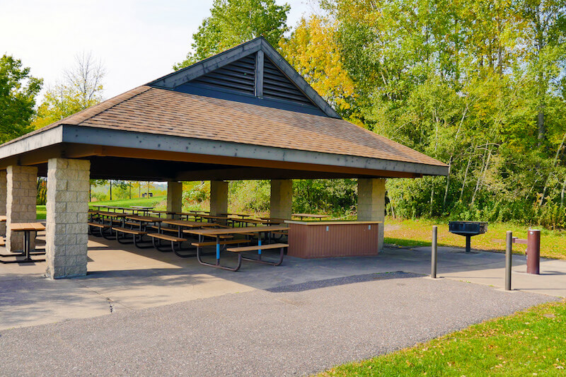 Park pavilion in French Regional Park