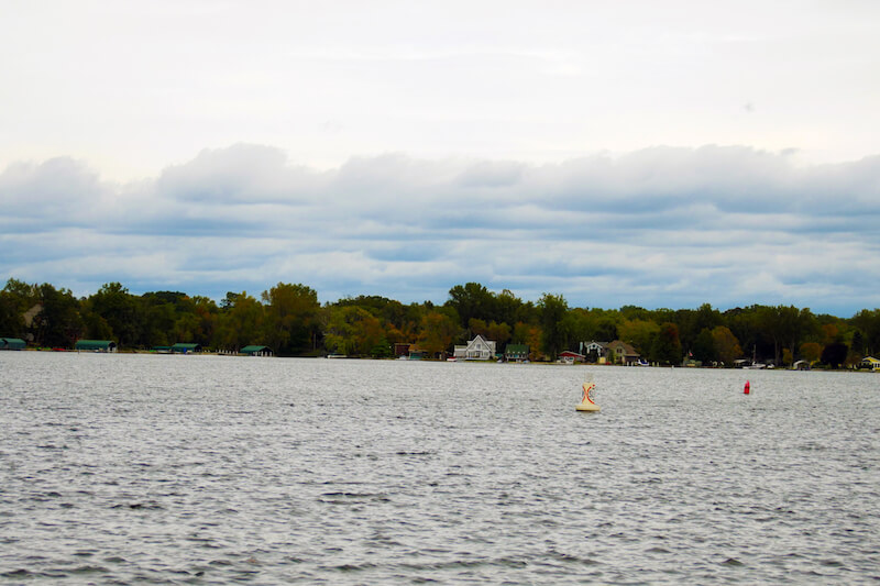 Gray's Bay under an overcast sky in the summer