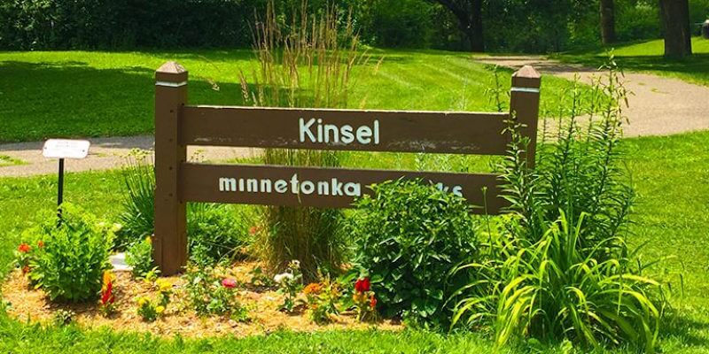 Kinsel Park Sign in Minnetonka, Minnesota