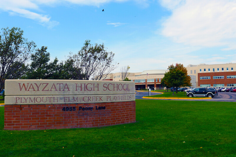 Wayzata high School in Plymouth, Minnesota