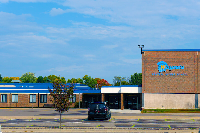 Wayzata Central Middle School in Plymouth, Minnesota