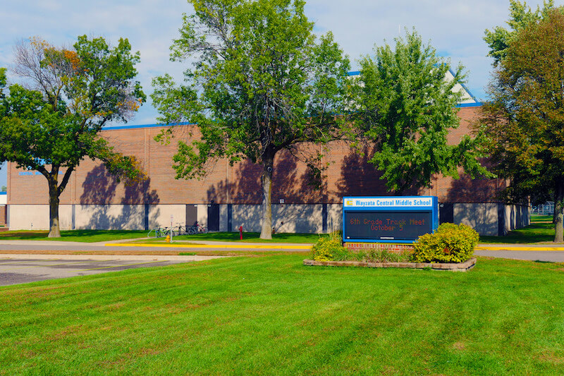 Front of Wayzata Central Middle School