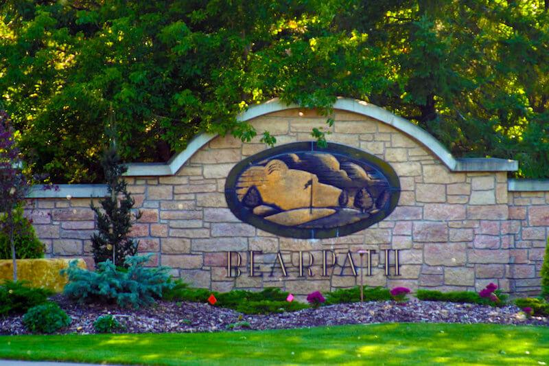 Sign of Bearpath Neighborhood in Eden Prairie