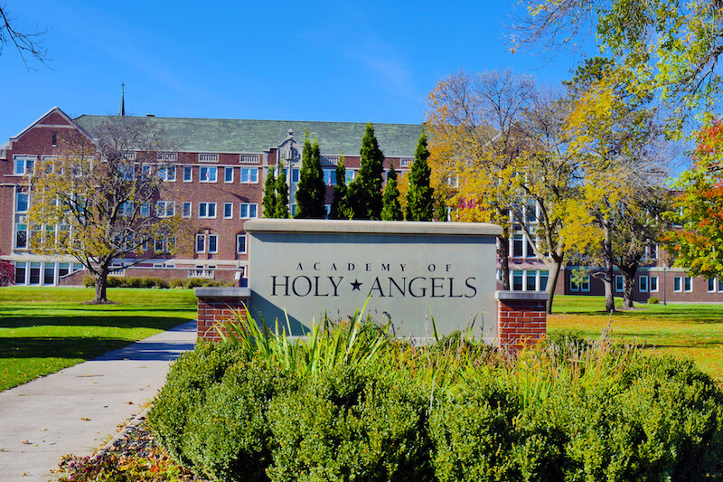 Academy of Holy Angles Sign in Richfield, Minnesota